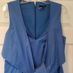 J. crew brilliant blue cotton midi dress